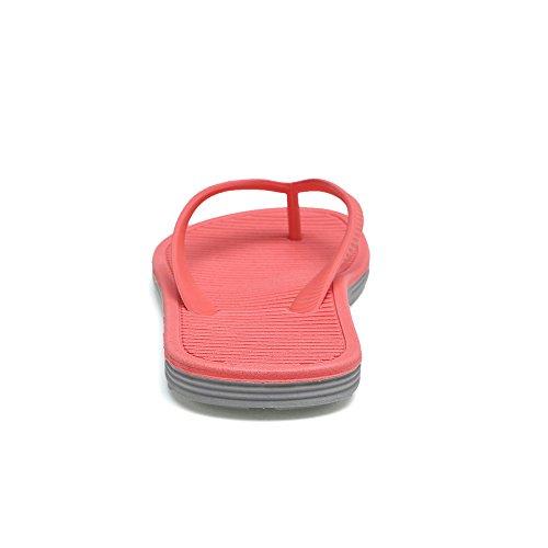 piscina mujer para mujer de caucho mujer zapatos sandalias chancletas chanclas QANSI para mujer de para para playa Rosa y F1WvZ4xqwC