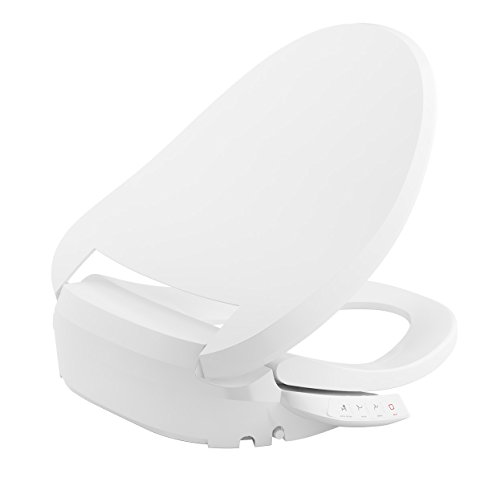 KOHLER K-18751-0 C3 050 Elongated Warm Water Bidet Toilet Seat, White with Quiet-Close Lid and Seat, Low Profile Design, Self-Cleaning Wand, Adjustable Spray Pressure and Position, Comfortable - Bowl Customizable Light Fixture