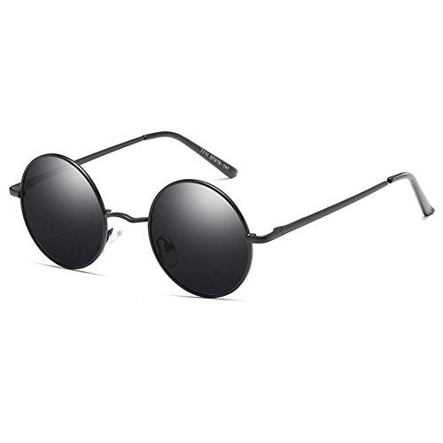 rétro de conduite lunettes femmes Lunettes hommes rondes classique soleil C1 juqilu métal polarisé PqxdaAw8d