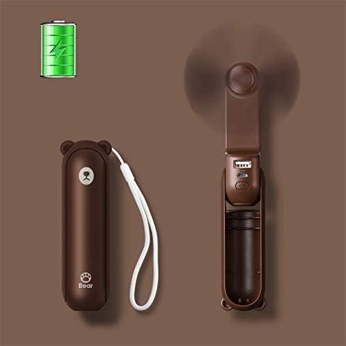 Cartoon hand pressure fan mini portable child fan push type L8S1 fan manual J5G6