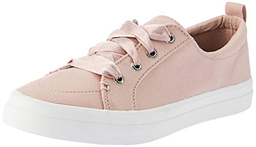 SPERRY Women's Crest Vibe Satin LACE Sneaker, Rose dust, M 075 Medium US