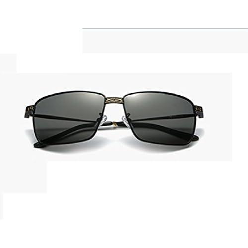 212fd5c997 LQABW Gafas De Sol Clásicas Metal Frame Clear Lens Gafas De Aviador Metal  Retro Moda,