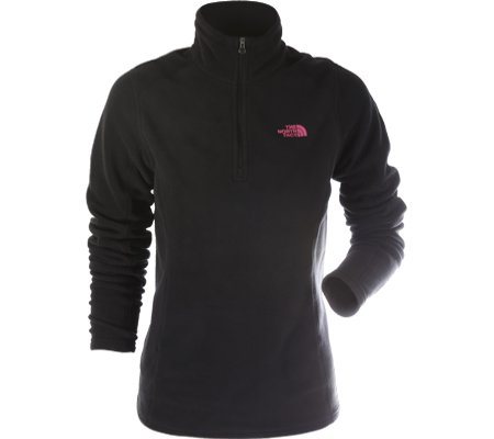 The North Face Gardenia White Pink Ribbon Glacier 1/4 Zip VEH401605
