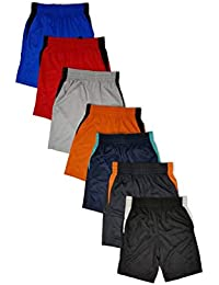 Boys 7 Pack Active Performance Mesh Style Basketball Sport Shorts