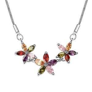 GOMO Zircon pendant Crystal Pendant Necklace with Platinum plating