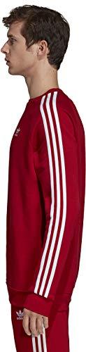 Rouge Stripes Pour Power 3 Adidas Red Sweat Hommes Les 6qtzwO