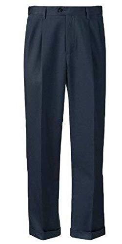 Croft & Barrow Mens No Iron Classic Fit Pleated Front Comfort Waist Cuffed Hem Dress Pants (33x32, -