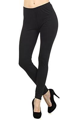 Always Women's Solid Color Full Length High Waist Leggings
