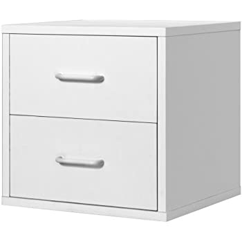 Foremost 327401 Modular 2 Drawer Cube Storage System  White. Amazon com  Foremost 327401 Modular 2 Drawer Cube Storage System