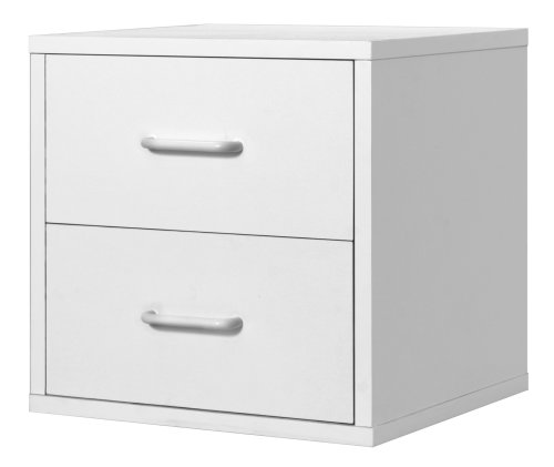 Foremost 327401 Modular 2Drawer Cube Storage System White