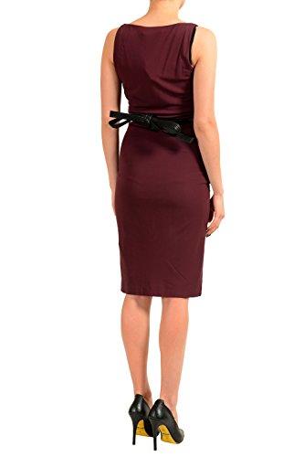 XS Belted DSQUARED2 US IT s Women Dress Sleeveless Burgundy Sheath 38 Ia8wBgxa