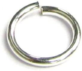 7mm 100pc 21ga Antique Silver Platinum Plated Open Jump Rings Findings Necklace
