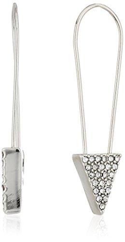 Rebecca Minkoff Alexandria Pin Silver Drop Earrings