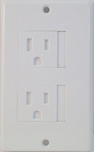4 Pack Mommy's Helper Safe Plate Sliding Safety Outlet Cover 1 or 2 Screws (Dec 4, White) (Mommys Helper Plate Safe Standard)