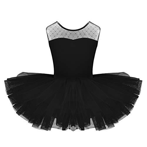 YiZYiF Baby Girl's Ballet Outfits Leotard Tutu Dancewear Party Dress (7-8(Shoulder to Crotch 20.5