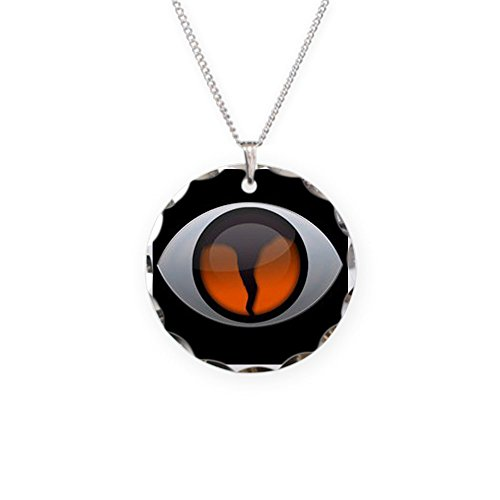 CafePress - Lg Sq 3D - Charm Necklace with Round Pendant