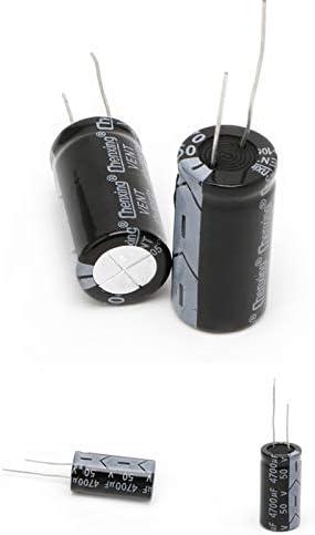 FXCO 2 St/ücke 18 35mm 4700uF 50 V Elektrische Kapazit/ät Aluminium Elektrolytkondensator 105 /° C Dimension