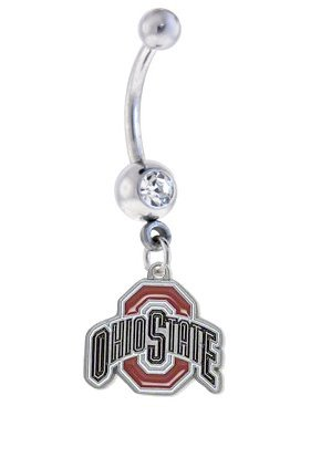 Ohio State Buckeyes Sexy Belly Navel Ring