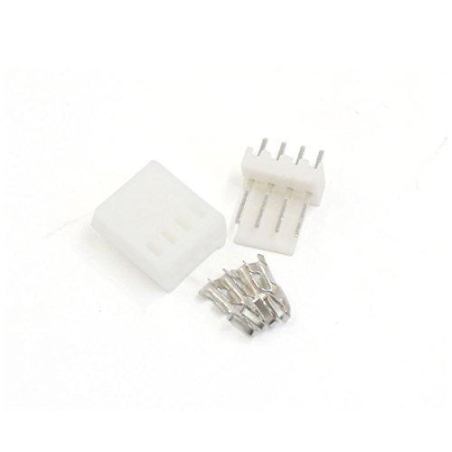 eDealMax 5 Sets KF2510 4 broches 2.54mm tête Borne de logement Kit connecteur