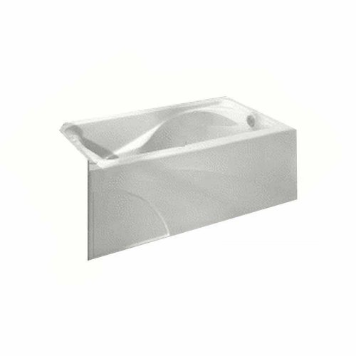 American Standard 2776.202.020 Cadet Bath Tub with Integral Apron and Left-Hand Outlet, White