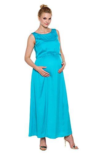 Kleid Mutterschafts Blau Maxi Stillkleid Tummy Türkis My Andie fFxwnq