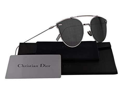Christian Dior Homme DiorPressure Sunglasses Ruthenium w/Green Lens 57mm 6LB07 Dior Pressure Dior Pressure/S DiorPressure/S