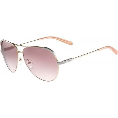 Chloe CE118S 709 Light Gold / Peach Eria Aviator Sunglasses Lens Category 3 Len