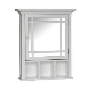 Stripe Wood Medicine Cabinet, White (20 x 6.5 x 24.125) by Elegant Home Fashions (Image #1)