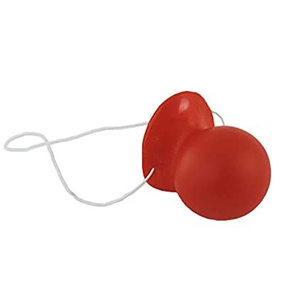 Red Rubber Honking Squeaking Clown Nose with Elastic: Clothing