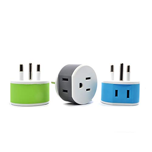 OREI Thailand Travel Plug Adapter - 2 USA Inputs - 3 Pack - Type O (US-18) - Does Not Convert Voltage