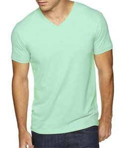 Next Level Apparel 6440 Mens Premium Fitted Sueded V-Neck Tee - Mint, Large