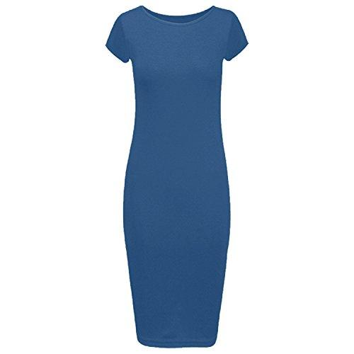 corta Ltd turquesa Ahr ajustado de azul Vestido manga Manchester HwqzY