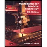 Mathematics for Machine Technology, Smith, Robert D., 0827340427