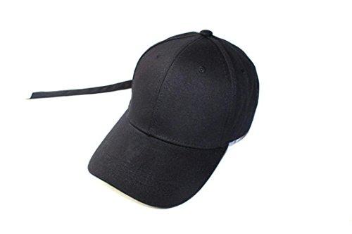 Hat,UPLOTER Extra Long Back Strap Snapback Hat Ball Cap (Black)