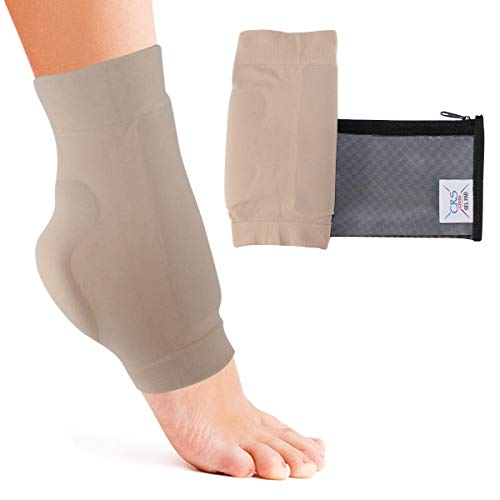 - CRS Cross Boot Bumper Gel Pad Sleeve - Padded Skate Sock for Foot Protection of Achilles Tendon & lace bite Area Skating, Hockey, Roller, ski, Hiking, Riding Boots (One Size Fits Most)