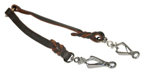 Dean & Tyler Double Dutch Sprenger Snap Leash, 2-Feet by 1/2-Inch, Brown