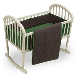 Reversible Cradle Bedding Set - Size: 15 x 33 Color: Brown/Green