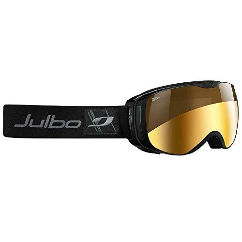Julbo Women's Luna Ski Goggle, Cat 2-4 Zebra Anti-fog Lens, Black, Medium
