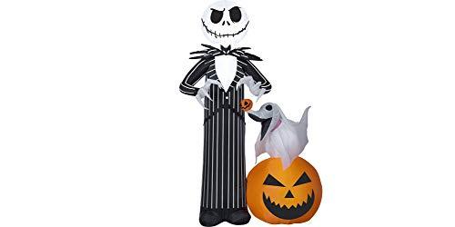 Gemmy 3.5' Airblown Jack Skellington Disney Scene Halloween Inflatable