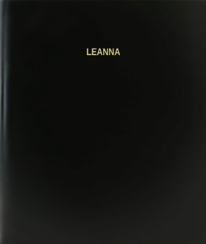"BookFactory® Leanna Log Book / Journal / Logbook - 120 Page, 8.5""x11"", Black Hardbound (XLog-120-7CS-A-L-Black(Leanna Log Book))"