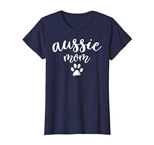 Womens Aussie Mom T-Shirts - Australian Shepherd Dog Gifts