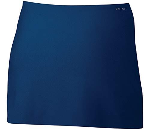 NIKE Women's NikeCourt Power Spin Tennis Skirt (XS, Blue Jay/White)