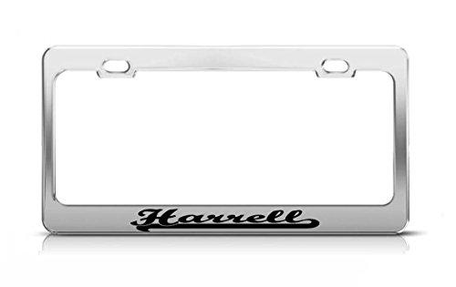 Harrell Last Name Ancestry Metal Chrome Tag Holder License Plate Cover Frame