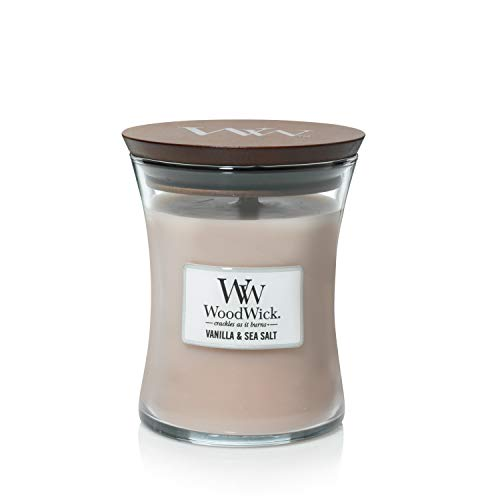 (WoodWick Vanilla Sea Salt Pluswick Medium Hourglass Candle, 10 oz.)