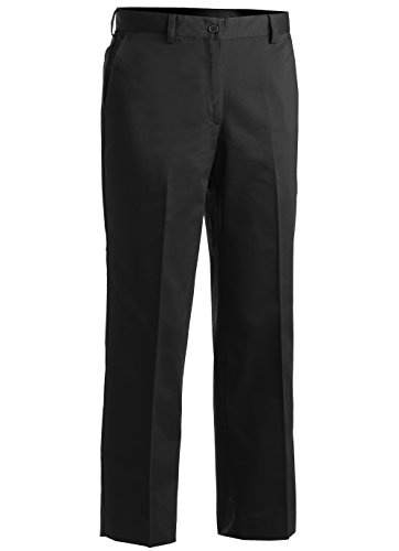 - Edwards Ladies' Blended Chino Flat Front Pant Black 18W