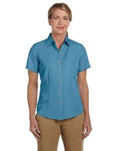 HA LADIES TEXTURED CAMP SHIRT (CLOUD BLUE) (S)