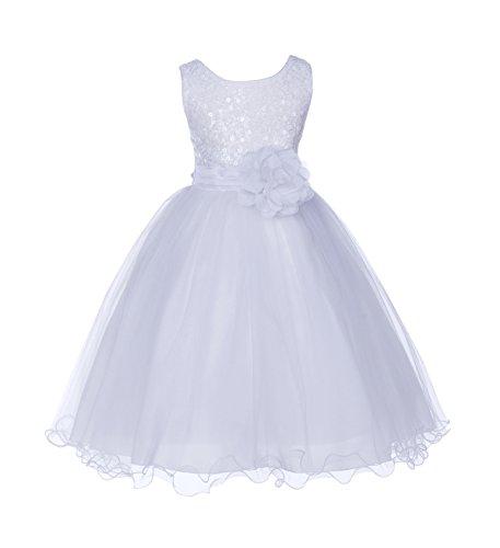 ekidsbridal Wedding Glitter Sequin Tulle Flower Girl Dress Toddler Recital Communion Easter Pageant Princess B-011NF