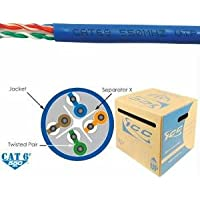ICC ICCABR6EBL / Cat 6E 550 UTP SLD CBL 23G 4P CMR 1K BLUE