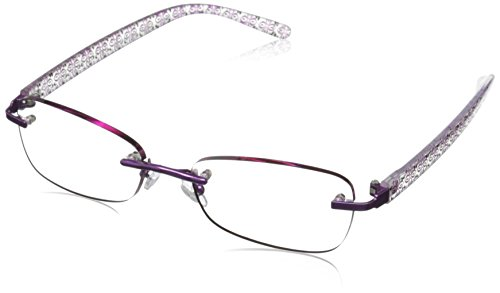 Foster Grant Women's Daniella PolarizedRoundReaders , Purple