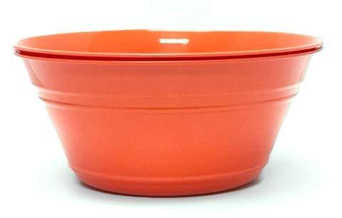 (Mintra Home Plastic Snack Bowls (Large 2pk (4L), Orange))